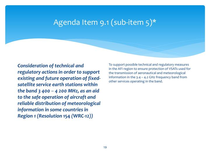 Agenda Item 9.1 (sub-item 5)*