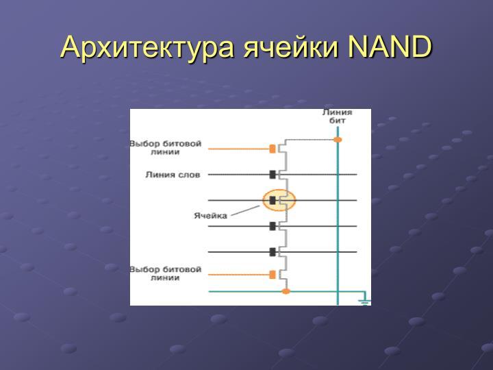 Архитектура ячейки NAND