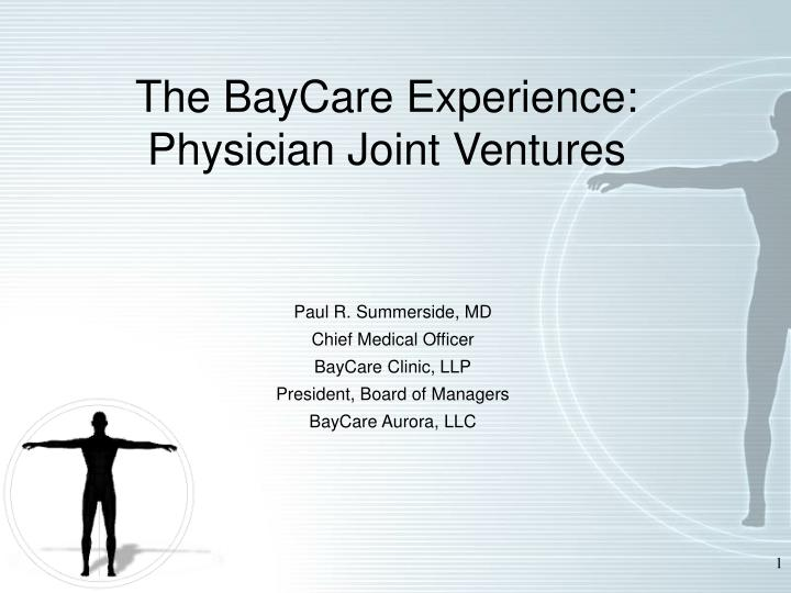 the baycare experience physician joint ventures