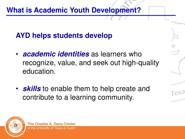 What is Academic Youth Development?