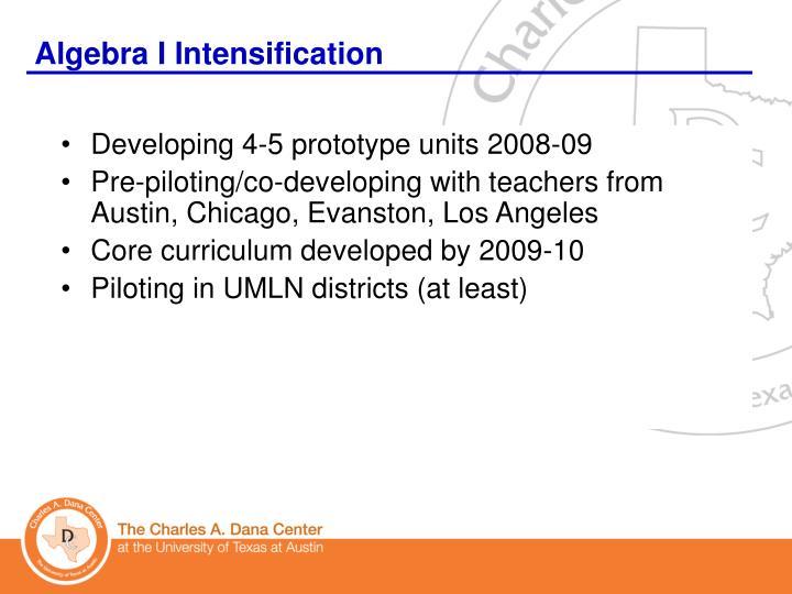 Algebra I Intensification
