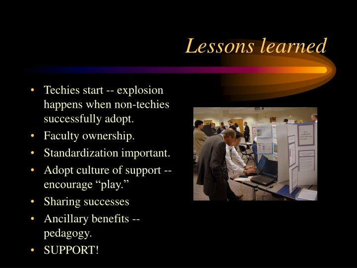 Techies start -- explosion happens when non-techies successfully adopt.