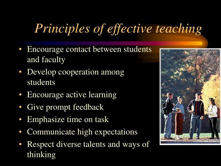 Principles of effective teaching