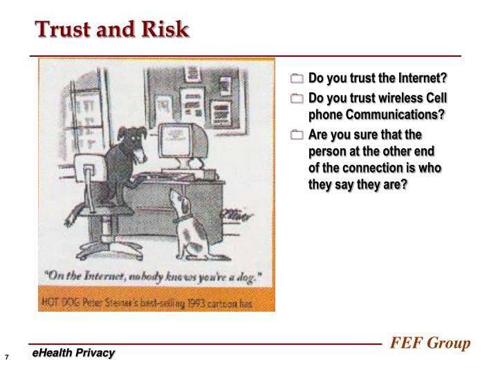 Trust and Risk