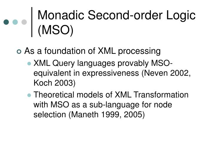 Monadic second order logic mso1
