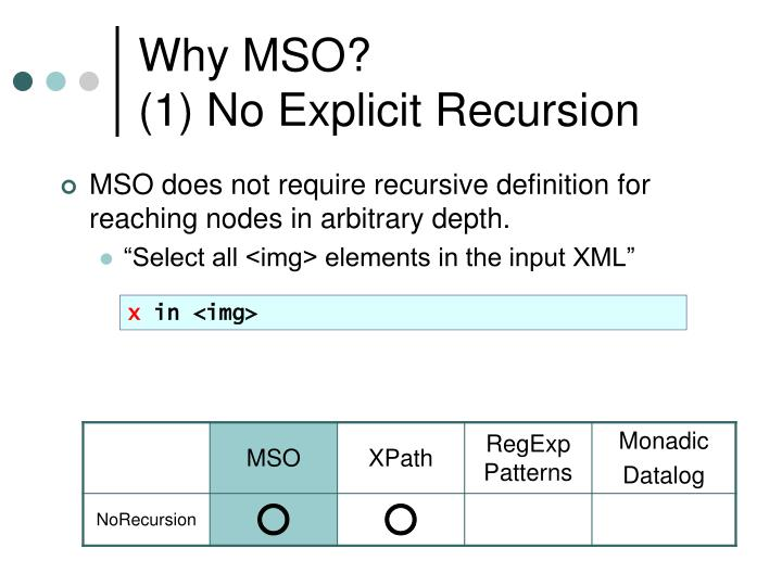 Why MSO?
