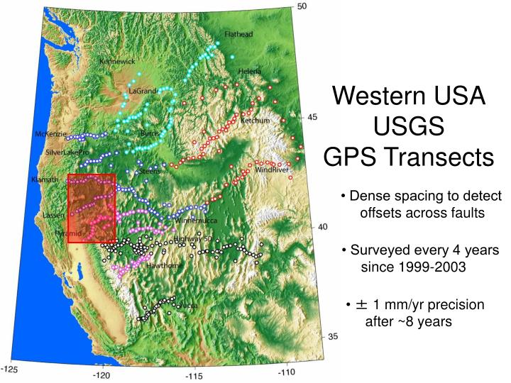 Western usa usgs gps transects1