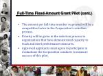 full time fixed amount grant pilot cont1