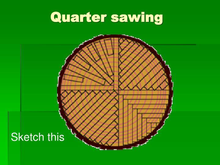 Quarter sawing