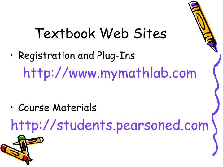 Textbook Web Sites
