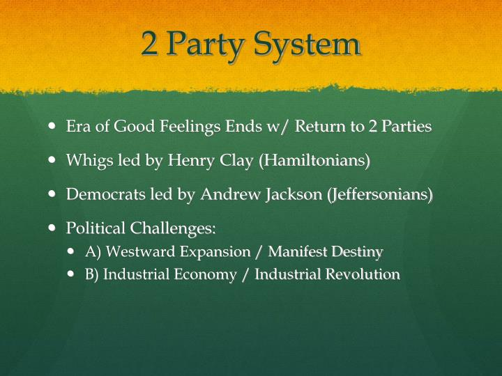 2 party system
