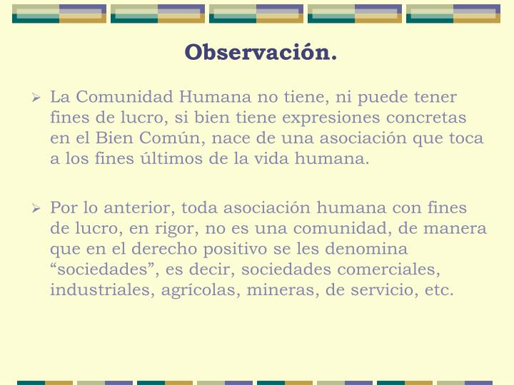 Observación.