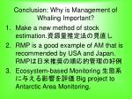 conclusion why is management of whaling important