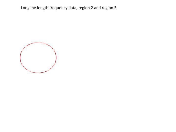 Longline length frequency data, region 2 and region 5.