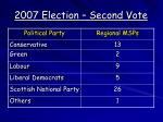2007 election second vote
