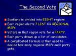 the second vote