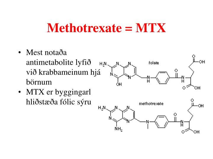 Methotrexate mtx