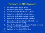 evidence of effectiveness