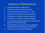 evidence of effectiveness1