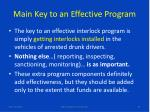 main key to an effective program