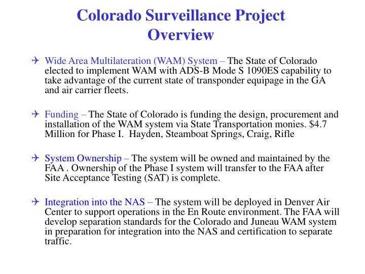 Colorado Surveillance Project