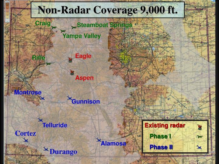 Non-Radar Coverage 9,000 ft.