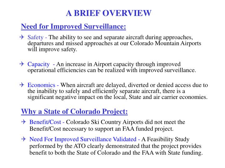 Why a state of colorado project