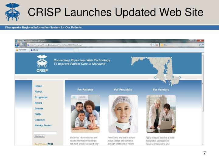 CRISP Launches Updated Web Site