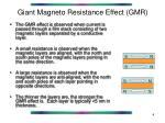 giant magneto resistance effect gmr