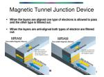 magnetic tunnel junction device1