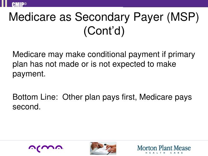 Medicare as Secondary Payer (MSP) (Cont'd)
