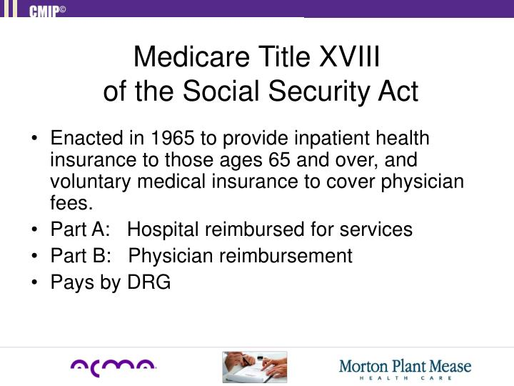 Medicare Title XVIII