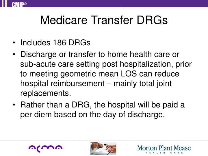 Medicare Transfer DRGs