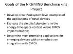 goals of the nri mind benchmarking project