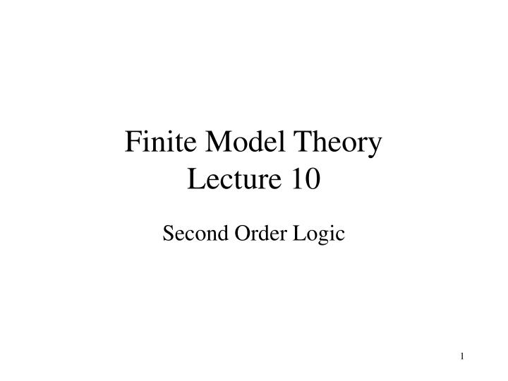 Finite model theory lecture 10