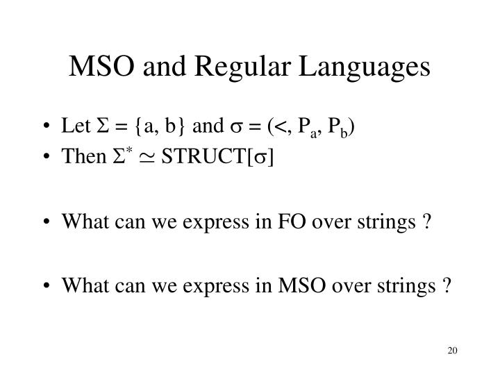 MSO and Regular Languages