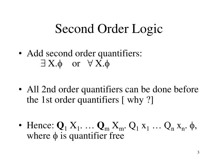 Second order logic