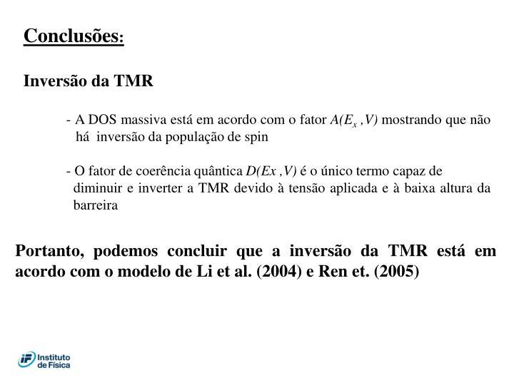 Inversão da TMR
