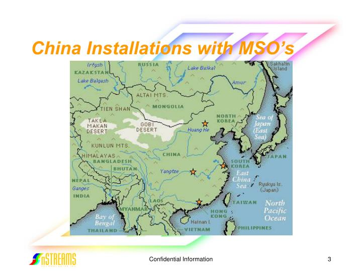 China installations with mso s