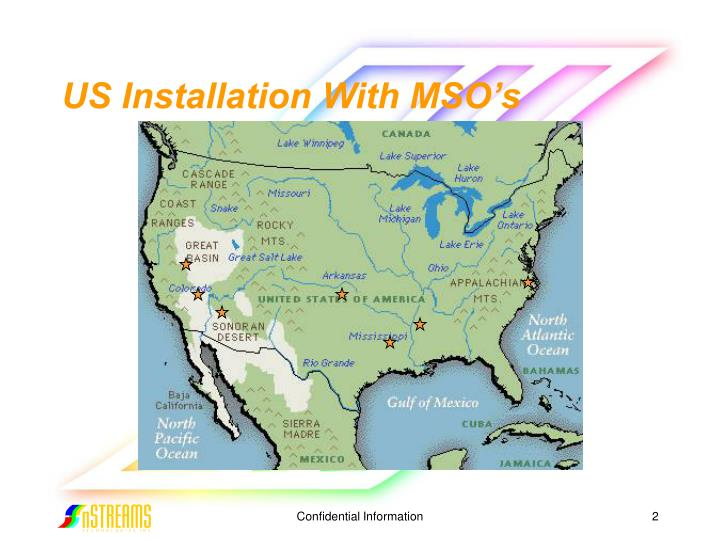 Us installation with mso s