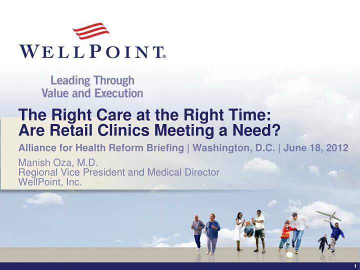 the right care at the right time are retail clinics meeting a need