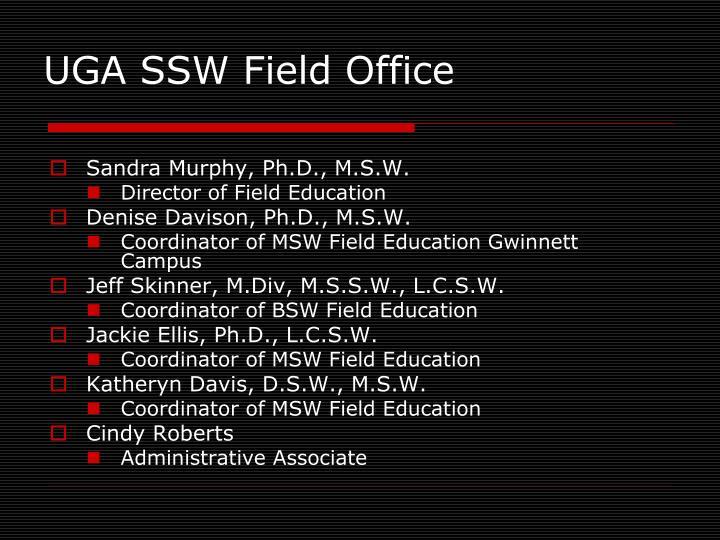 Uga ssw field office