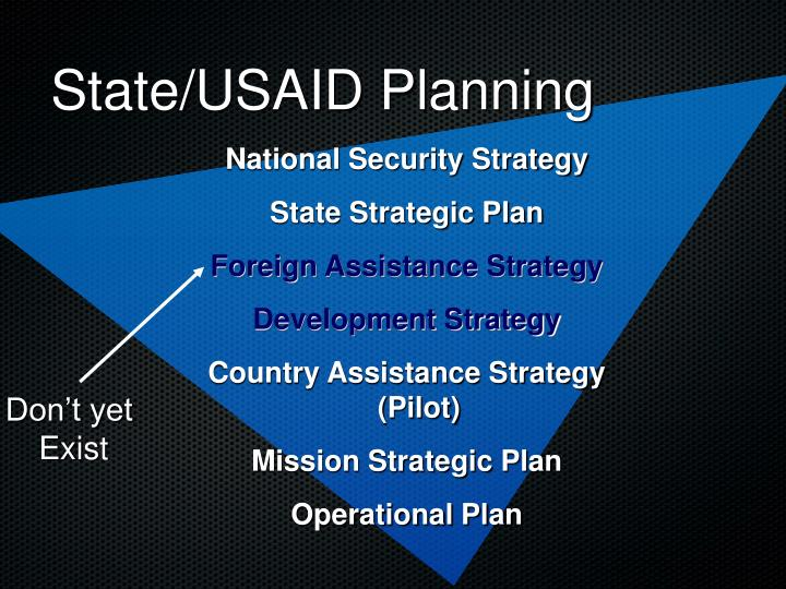 State/USAID Planning