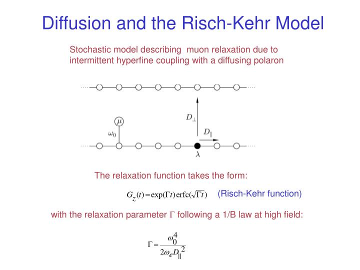 Diffusion and the Risch-Kehr Model