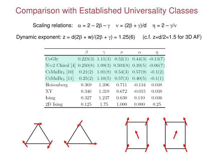 Comparison with Established Universality Classes