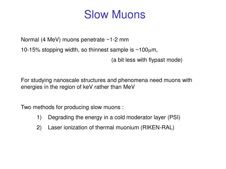 Slow Muons