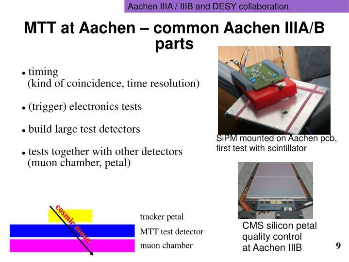 Aachen IIIA / IIIB and DESY collaboration