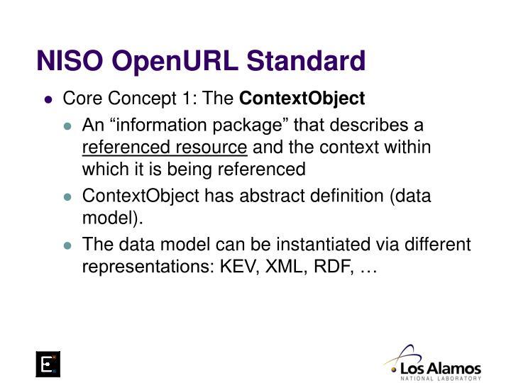 NISO OpenURL Standard