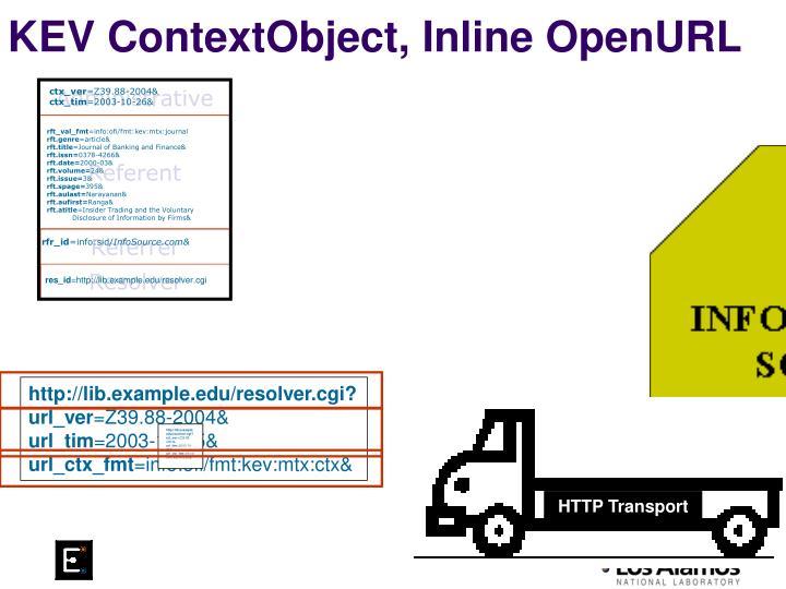 KEV ContextObject, Inline OpenURL