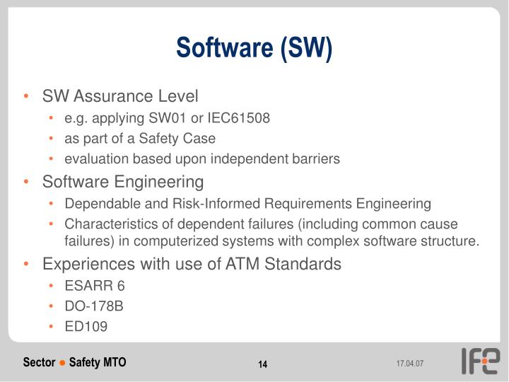 Software (SW)
